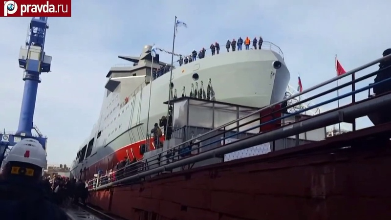 Russia's first military icebreaker Ivan Papanin