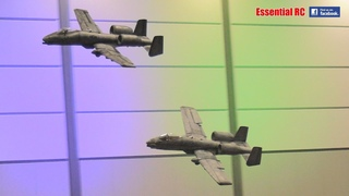 GIANT A-10 WARTHOG TANK BUSTER JETS INDOOR and CLOSE FORMATION