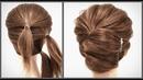 Простая и Быстрая прическа для коротких волос Красивые прически пошагово Fast hairstyle for short