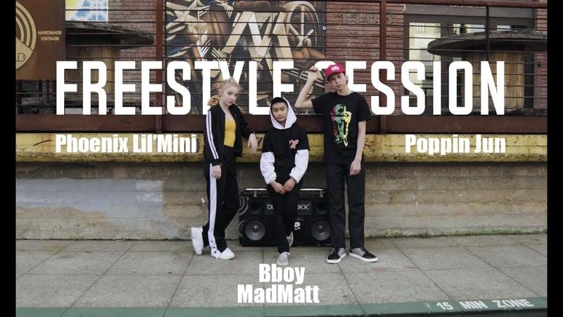 Bboy MadMatt Phoenix Lil'Mini Poppin Jun Freestyle Session
