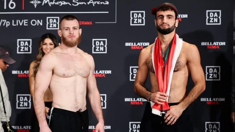 📸Некруз Мирходжаев прошёл официальную процедуру взвешивания перед турниром BELLATOR 216