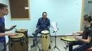 Drum Train Марш и Латино старик играет без репетиций
