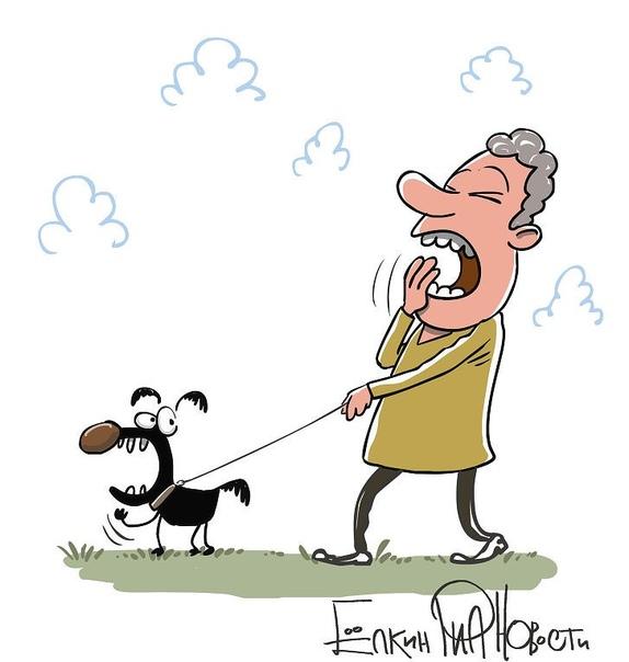 Прикольные рисунки человека с собакой