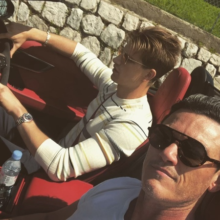 """@thereallukeevans on Instagram """"Driving to Monaco being total dudes with @thuntingtonwhiteley in @jaguar ftypesvr the perfect way to see the sout..."""