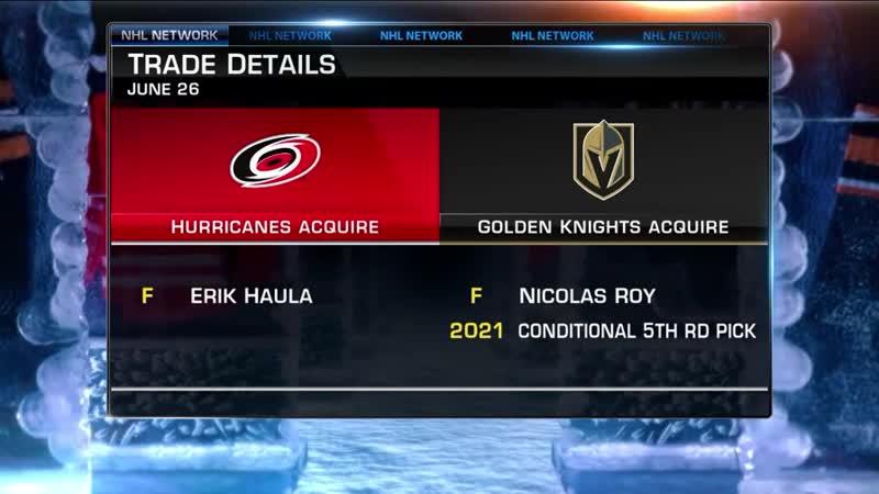 NHL Now Erik Haula trade Jun 27 2019