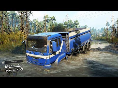 SnowRunner Mod MAN TGS480 10x4 Driving Offroad To Quarry Crash Jack