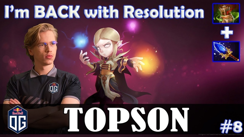 Topson - Invoker MID | I'm BACK | with Resolution (Beastmaster) | Dota 2 Pro MMR Gameplay 8