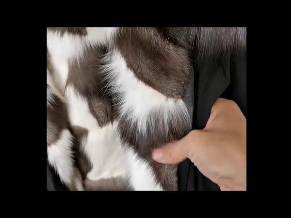 Меховая песцовая парка натуральный лисий мех подклад воротник енот Пешкин Шоп