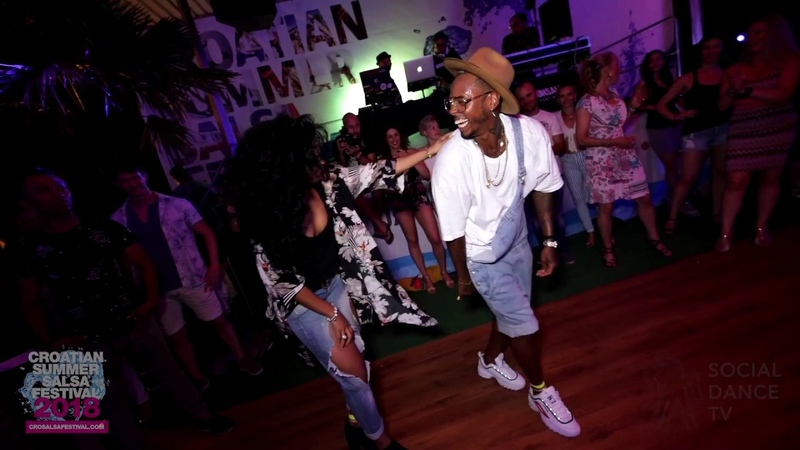 Yoandy Villaurrutia Yanet Fuentes Salsa dancing Croatian Summer Salsa Festival Rovinj 2018