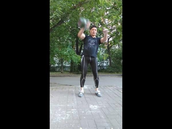 Snatch, 24 kgs, 5 min.,123 reps