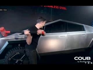 Tesla Cybertruck event in 10 seconds