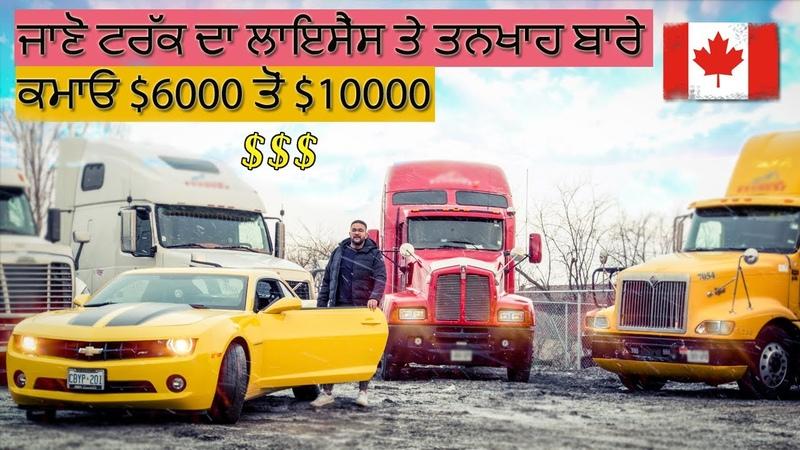 Trucking in Canada   Punjabi Truck Driver   License   Salary