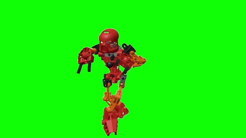 LEGO BIONICLE Tahu Default Dance Green Screen
