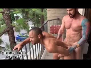 Jack mackenroth & xmanican – public hotel balcony fuck