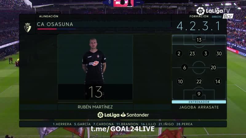 🇪🇸 Ла Лига 🏆 | 🔟-Tур Осасуна 31 Валенсия