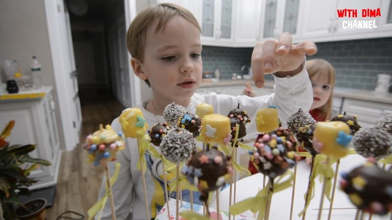 Делаем Конфеты для школьной ярмарки Hand Made Сandies Cake pops