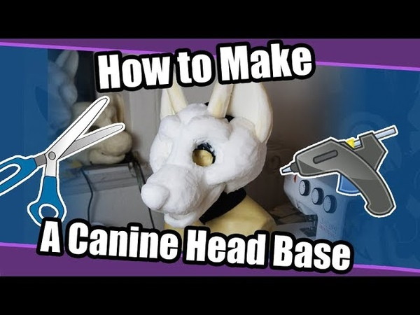 Tutorial 59 Canine Head Base For Fursuits PDF Pattern Template