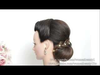 Simple bridal bun. updo hairstyle for long hair tutorial