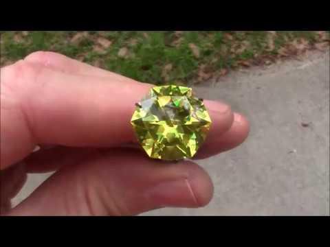 Faceting gemstones cutting the star of gallahad