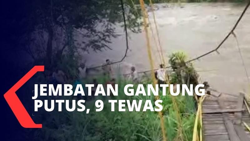 Jembatan Putus di Bengkulu 9 Tewas 3 Hilang