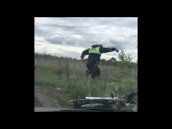 ДПС преследует подростка на мопеде