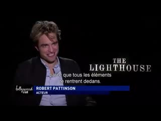 Hollywood live robert pattinson 'the lighthouse' (cine+interview)