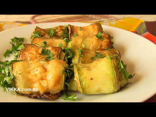 РУЛЕТИКИ из кабачков c сыром и чесноком. Рецепт от VIKKA video.(Ингредиенты в описании видео)