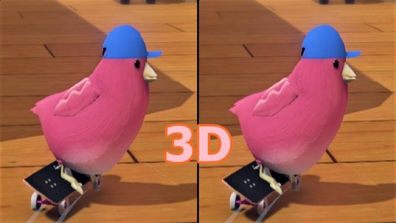 3D VR video SkateBIRD 3D SBS google cardboard