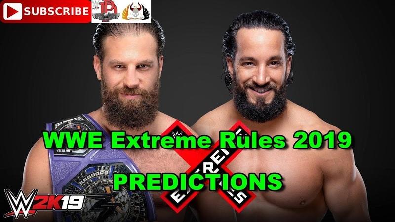 WWE Extreme Rules 2019 Cruiserweight Championship Drew Gulak vs Tony Nese Predictions WWE 2K19