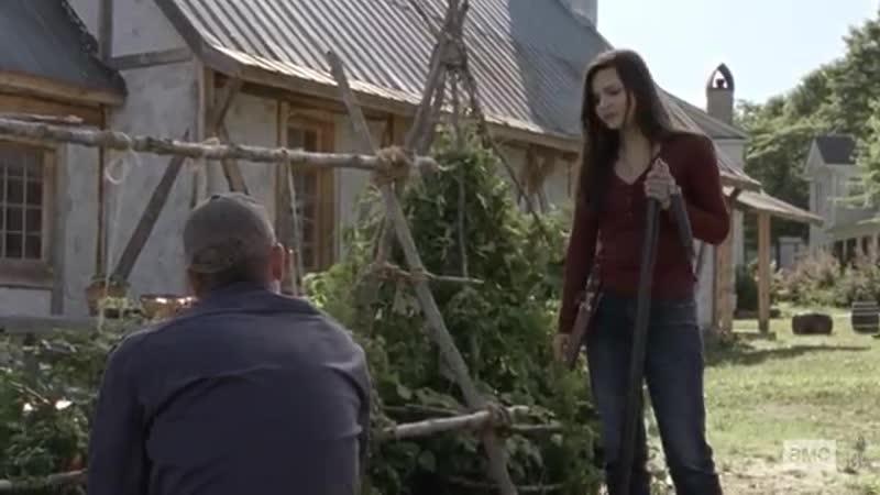 «The Walking Dead» 10X01 Lydia And Negan Scene Season 10 Episode 1 AMC Premiere.