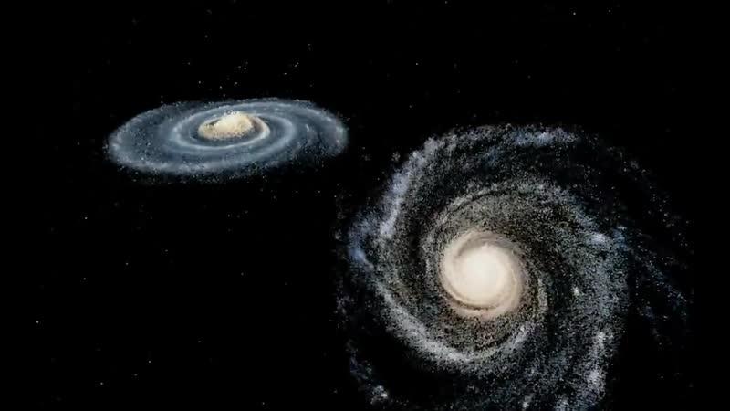 Столкновение Млечного пути с Туманностью Андромеды