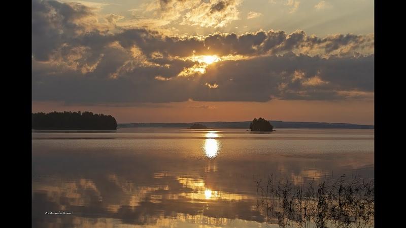 РЕЛАКСАЦИЯ ОТДЫХ ТИШИНА Рассвет над озером Сюрьяярви Северная Финляндия