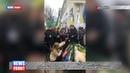Украинские аграрии выступающие против продажи земли, похоронили под стенами ВРУ свинью