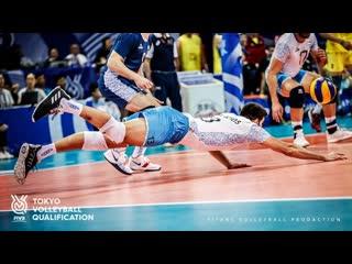Fantastic volleyball defense (dig save) mens oqt 2019 ᴴᴰ