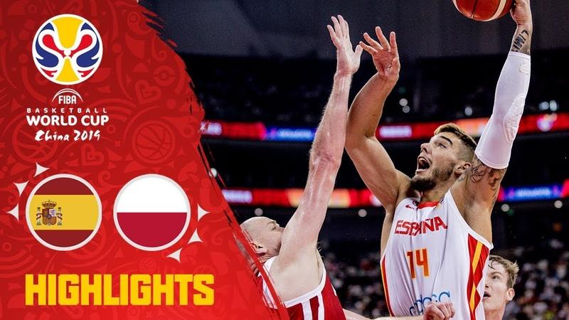 Spain v Poland - Highlights - Quarter-Final - FIBA Basketball World Cup 2019. Кубок Чемпионат мира ФИБА. 14 финала. Обзор. Испания - Польша