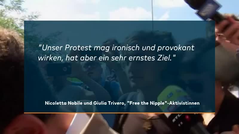 FREETHENIPPLE Italienerinnen tragen keine BHs aus Solidarität mit Rackete