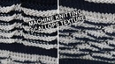 Machine knitting - How to knit Scallops texture (waves) - double bed knitting.