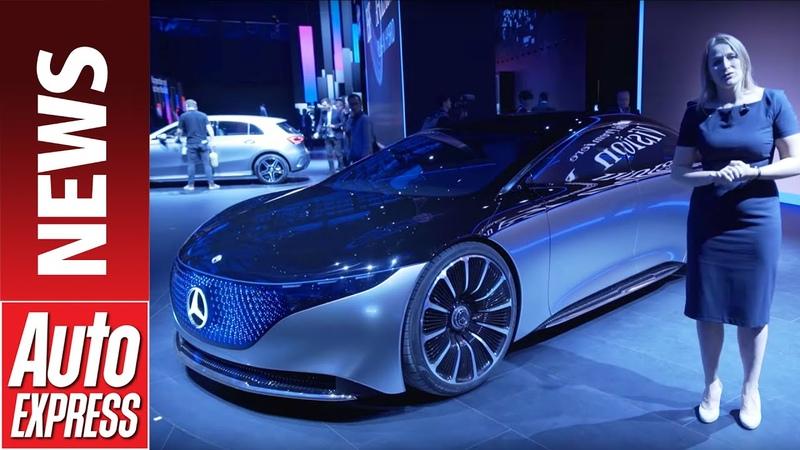 Mercedes Vision EQS concept - luxurious all-electric concept previews halo EV model