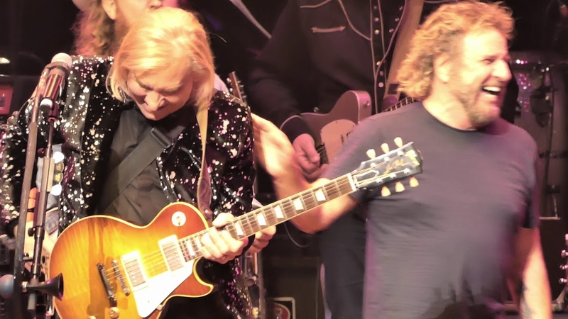 EPIC JAM: Joe Walsh, Brian May, plus Sammy Hagar as a guitar tech :) - Rocky Mountain Way
