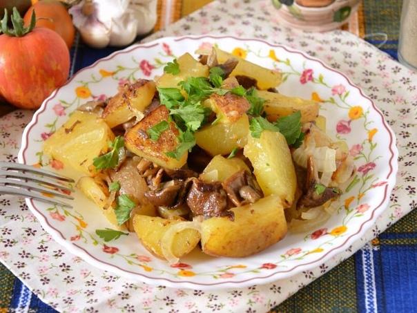 Картошка с грибами для похудения