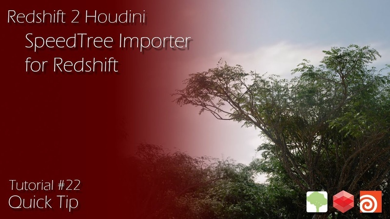 Redshift 2 Houdini - 22 - SpeedTree Importer For Redshift - Quick Tip