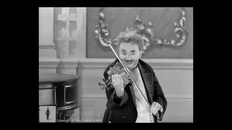 Chaplin and Keaton Violin and Piano Duet - Limelight - Full Scene