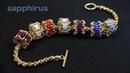 【ビーズステッチ】シードビーズで作る!ロンデルの作り方☆ブレスレット How to make a Beaded Rondelle with seed beads (Cylinder Bugle).