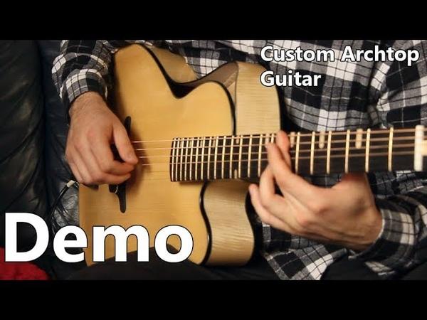 Handmade Archtop Guitar Demo