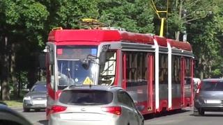 Трамвай Санкт-Петербурга 9-611:  (УКВЗ) б.5222 по №55 ()