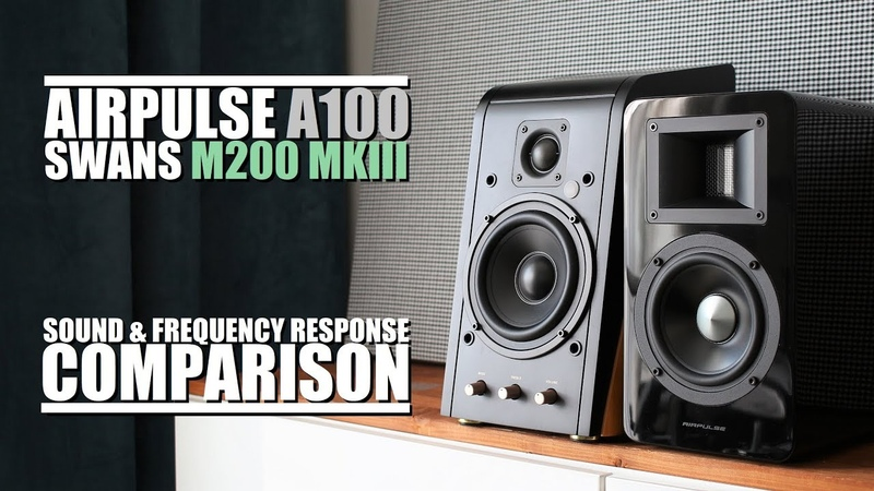 Swans HiVi M200 MKIII vs AirPulse A100 || Sound Frequency Response Comparison