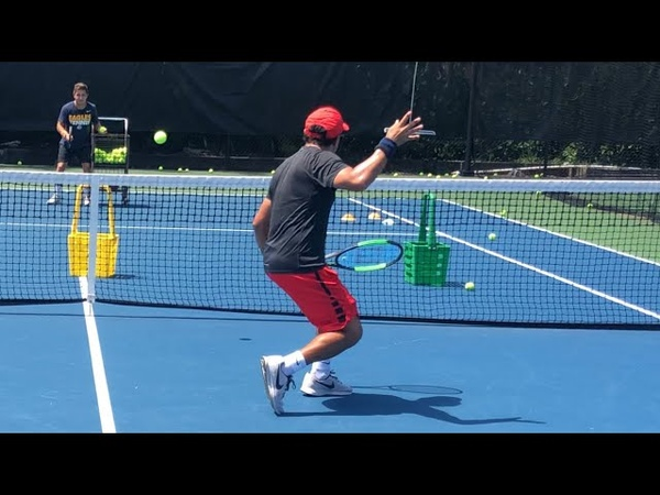 Advanced Volley Drill tennis training with ATP professional Coach Dabul