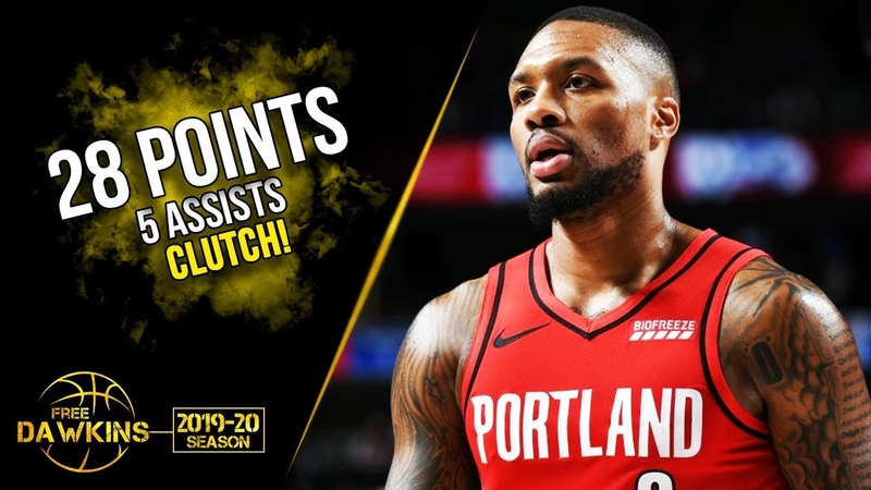 Damian Lillard Full Highlights 2019.10.27 Mavs vs Blazers - 28 Pts, 5 Asts, CLUTCH! | FreeDawkins