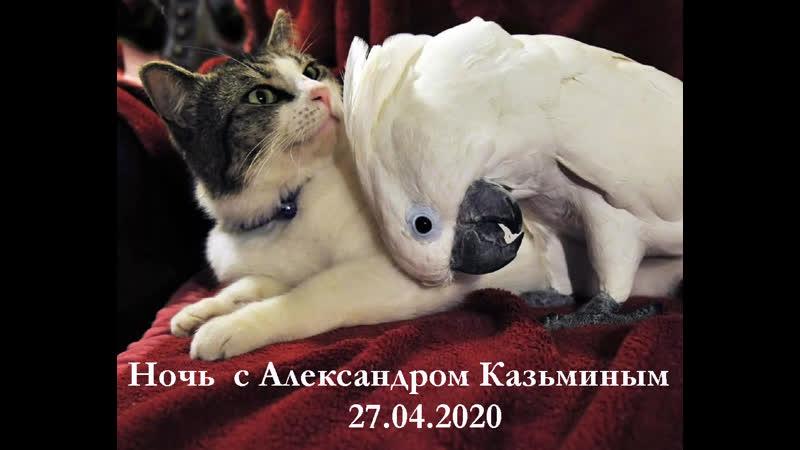 Александр Казьмин коротко о трех часах ночью с Гумбой 27 04 2020