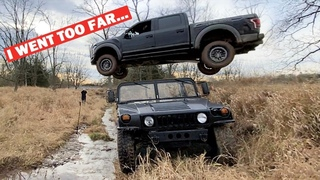 I BUILT A BIGGER JUMP For My 2020 Raptor... AND JUMPED OVER A HUMMER!!! *DON'T DO THIS*